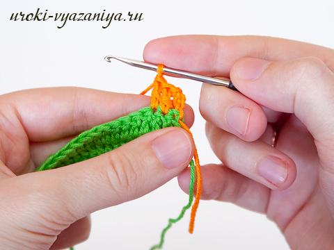 смена цветов вязание