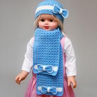 шарф для девочки крючком