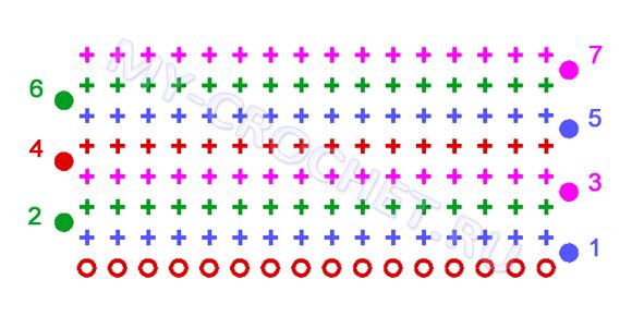схема вязания банта крючком