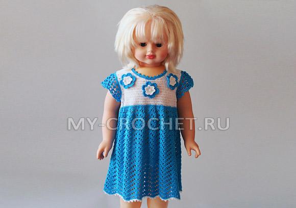 платье для девочки крючком мастер-класс